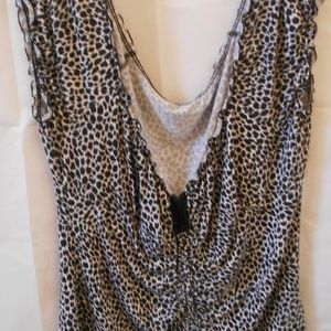Dorothy Perkins XXL Black White Blouse Stretch